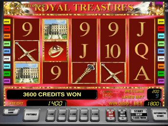 Royal Treasures в Вулкане Удачи